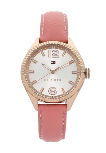 34e4612a Buy Tommy Hilfiger Tommy Hilfiger Chrissy Rose Gold and Pink Leather Watch  Online on ZALORA Singapore