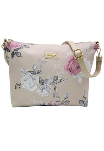STRAWBERRY QUEEN beige Strawberry Queen Flamingo Sling Bag (Floral AL, Beige) 1D4AAAC221ACF3GS_1