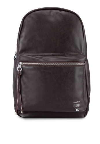 Buy Anello Synthetic Leather Backpack | ZALORA Singapore