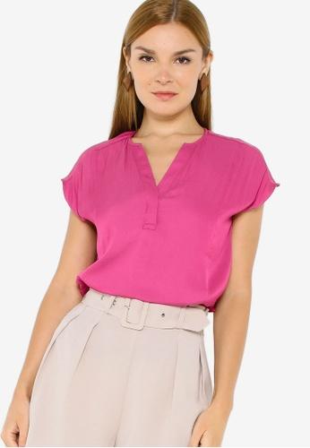 Banana Republic pink Short Sleeves Essential Blouse 89C9BAA335FC3EGS_1