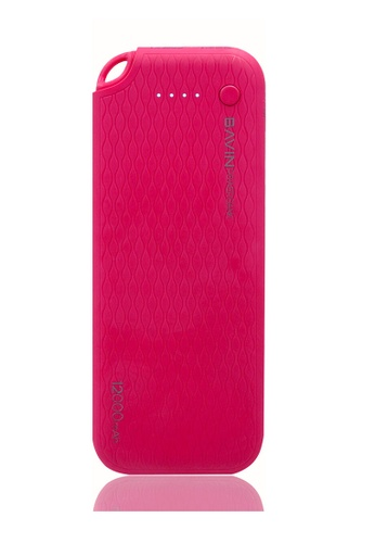 BAVIN pink Lightweight Portable 12000mAh Powerbank BF0F0AC883CAA9GS_1