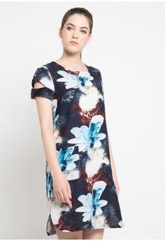 Etoile D Elfas blue Agnelia II - Cut Shoulder Loose dress ET604AA0UB7AID 1 3192965e88