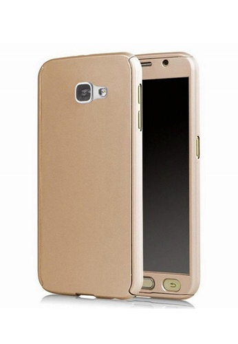big sale 5249b 8d314 360 Degree Full Body Armor Case With Free Tempered Glass for Samsung Galaxy  J7 Prime