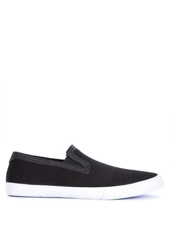 Topman black Keys Knit Slip on Sneakers 8A3E2SH2FF9981GS_1
