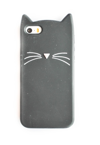 100% authentic 931b9 5ac79 Cat Soft Rubber Case for iPhone 5/5s/SE
