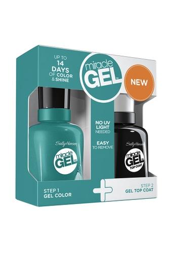Sally Hansen green Miracle Gel Cuba Craze Duo Pack - Tropic Relief SA454BE89HDIPH_1