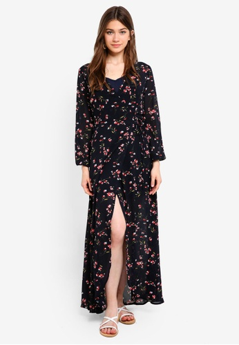 Something Borrowed navy 2 in 1 Wrap Maxi Dress BED0AAA21A542BGS_1