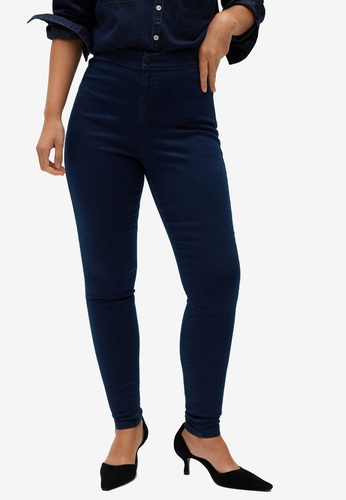Violeta by MANGO blue High Waist Tania Jeggings 471FDAAEAC38FFGS_1