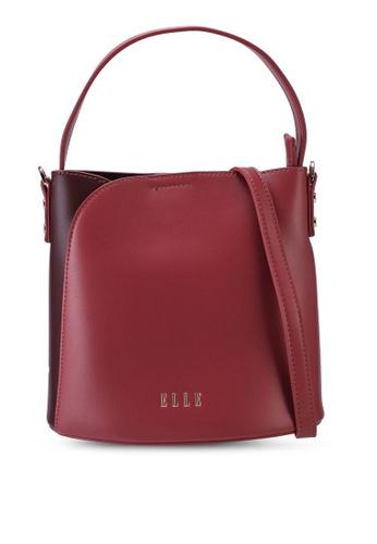 ELLE red Carmel Bucket Bag E7EC7AC3FA4B4BGS_1
