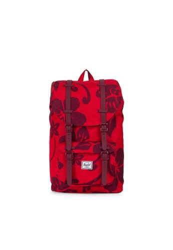 9c770afa1e6 Herschel red Herschel Little America M Backpack (Aloha) - 17L  71E47AC44403C5GS 1
