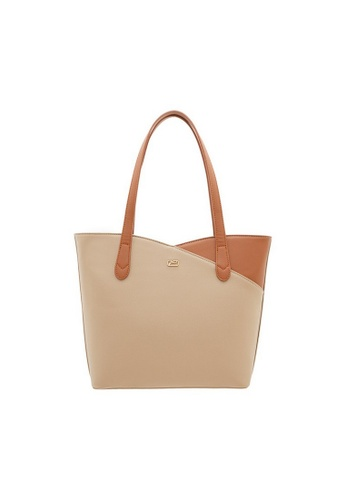 Valentino Creations brown Valentino Creations Slice Cut Shoulder Bag 9EBE4AC47D29D2GS_1