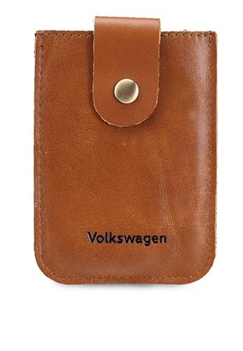 Volkswagen brown Leather Card Holder F613DAC2BD6011GS_1