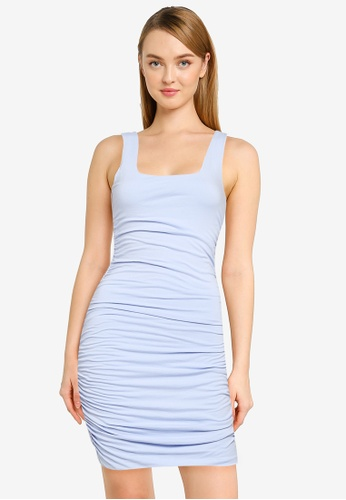 Supre blue Avah Ruched Mini Dress 711BDAAE3EA4F2GS_1