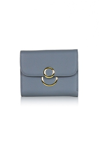 Dazz blue Calf Leather 8 Wallet - Blue DA408AC0S9JSMY_1