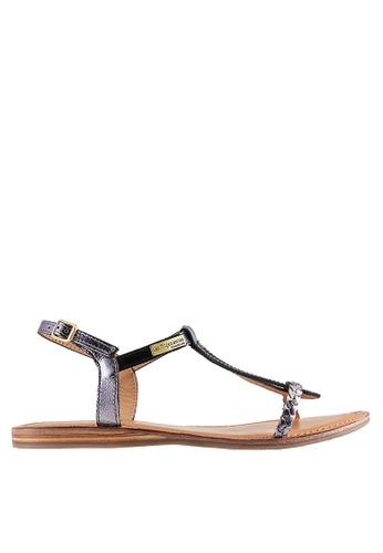 Les Tropeziennes Par M. Belarbi black Hatress Black Cross Ankle Leather Sandals D2602SH0C9AF40GS_1