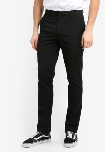 Topman black Slim Fit Trousers F3AE0AA16DDCCBGS_1