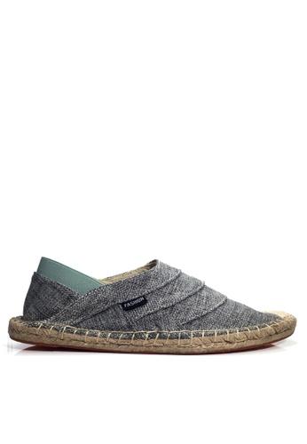 Twenty Eight Shoes 綠色 VANSA 時尚亞麻布輕便鞋 VSM-C1879 F9126SH7E856D0GS_1