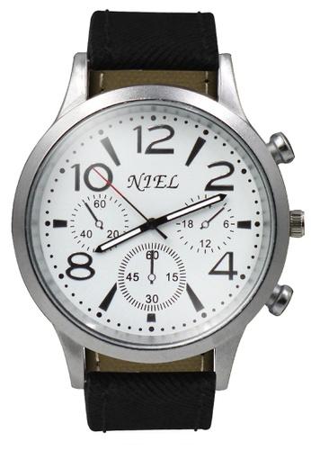 Dooka black Niel Analog Men's Watch DO079AC30SRHPH_1