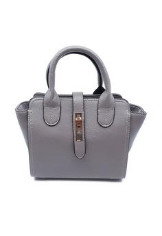 b6448be387 BELLE LIZ grey Gorgeous Buckle Handbag Crossbody Leather Bag Grey  EDC82AC341AC83GS 1