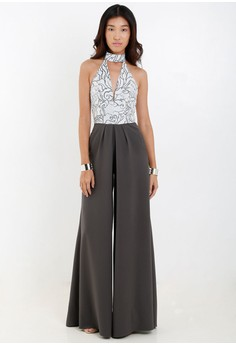 [PRE-ORDER] Jumpsuit In Haltered Top and Wide Leg Pants