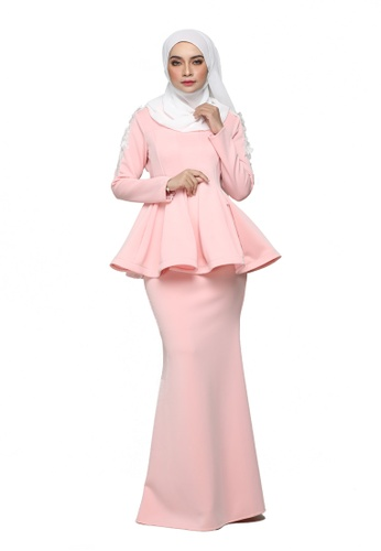 Kuntum Peplum Kurung from ARCO in Pink