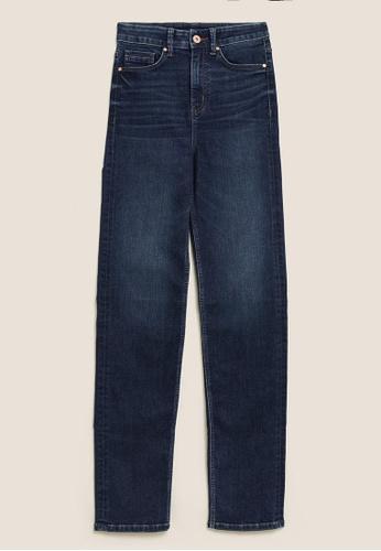MARKS & SPENCER blue M&S Sophia Straight Leg Jeans with Stretch 559CBAAB488D4DGS_1