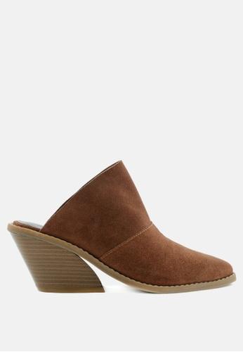RAG & CO brown Classic Mule Heels C0A13SH8829DBBGS_1
