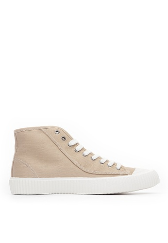 Life8 brown Men&Women Casual American Canvas High-Top Shoes-09848-Khaki 7FEAFSHDB3BB0FGS_1