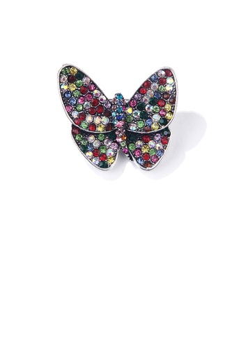 Glamorousky silver Elegant and Bright Colorful Butterfly Brooch with Cubic Zirconia D0686ACA43861CGS_1