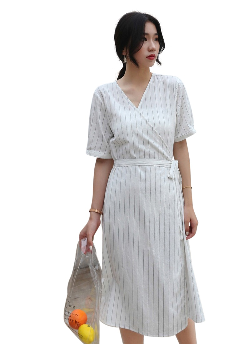 Dress Pin S White Wrapped Sunnydaysweety New S 2018 CA071849W Striped xAHZwq