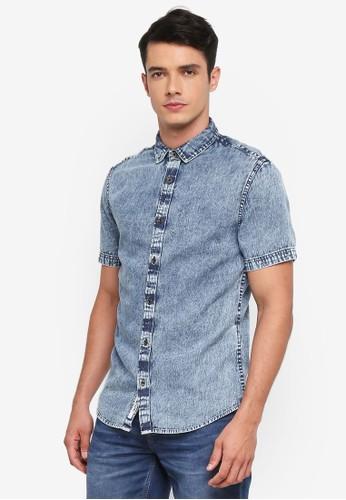 Only & Sons blue Tyson Denim Shirt 3E6B5AA87245B5GS_1