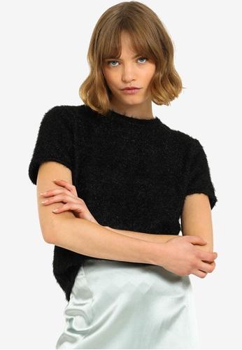 PIMKIE black Short Sleeve Fluffy Knitwear D18A3AA70D6193GS_1