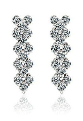 Vivere Rosse silver Romantic Diamond Simulants Earrings VI014AC88ZVZMY_1