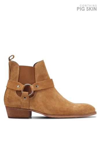 Topman brown Int South Harness Boots TO413SH0T1J9MY_1