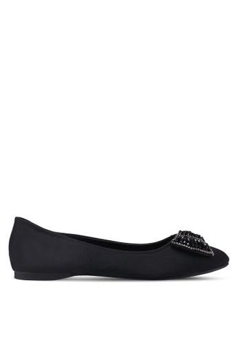 Mimosa black Embellished Bow Ballerina Flats 88FF7SH33DA773GS_1