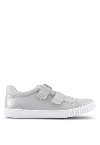 ZALORA grey Mixed Material Velcro Sneakers 11B15SH2949479GS_1