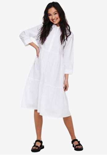 JACQUELINE DE YONG white ULLE 3/4 MAXI DRESS E72A6AA1CBCDF8GS_1