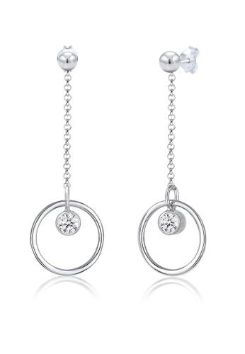 fa7f94a9f Elli Germany silver Elli Germany Earrings Round Circle Basic Geo Swarovski  Crystals 925 Sterling Silver 2CB68AC7767D23GS_1