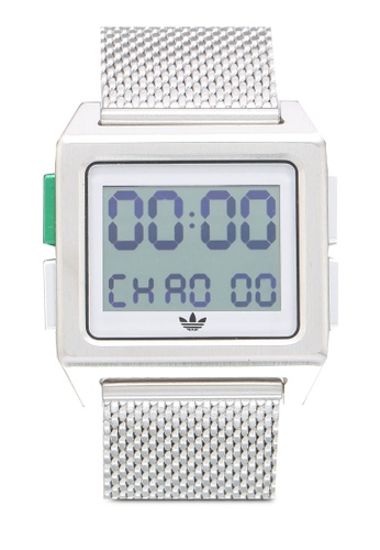 adidas white and silver adidas originals Archive M1 Watch 7533AACDA6D103GS_1