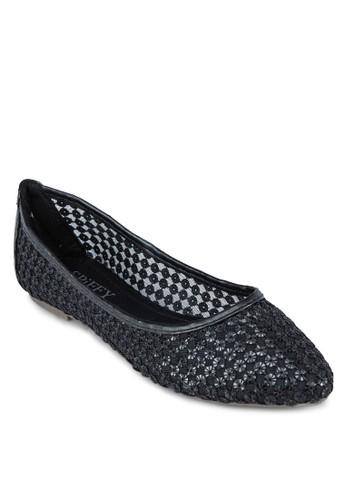 透膚網紗尖頭esprit台灣outlet平底鞋, 女鞋, 芭蕾平底鞋