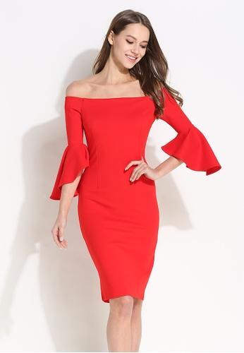 237a40b642b0 Sunnydaysweety red 2018 New Red Off Shoulder Flounced Sleeves One Piece  Dress CA012508 C609CAAC8B3EBCGS 1