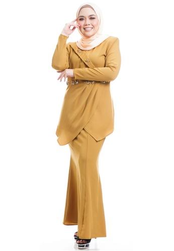 Ashura yellow Kikyna Kurung With Layered Peplum A5DB7AA7DCF4E0GS_1
