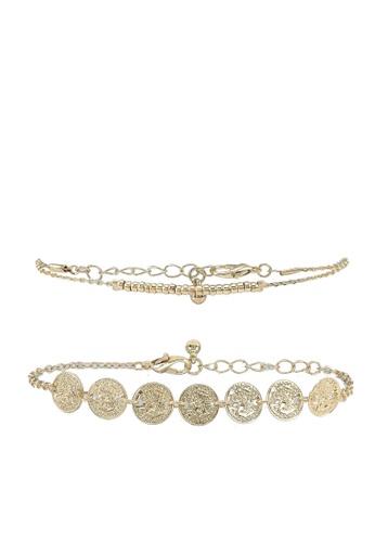 Pieces gold Pcjoina 2-pack Bracelet D2d 8730BACA015DDFGS_1