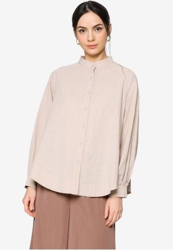 ZALIA BASICS grey Oversize Raglan Sleeve Shirt BB090AAF4487B2GS_1