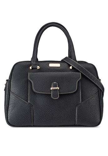 Unisa black Pebbled Textured Shoulder Bag UN821AC0RRXVMY_1