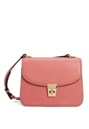 Mango pink Pebbled Cross-Body Bag B4F5EAC264D8AAGS_1