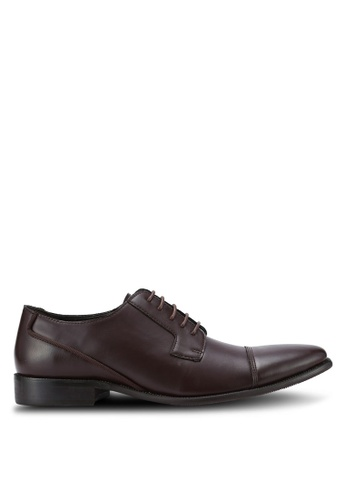 ZALORA brown Essential Faux Leather Dress Shoes 78D84AA9283471GS_1