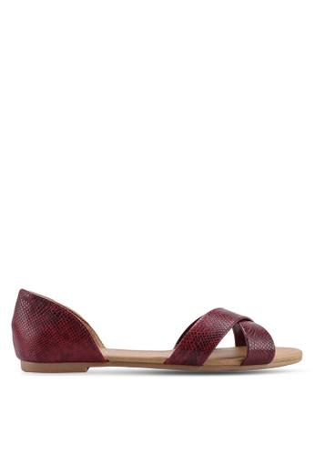 Rubi 紫色 Dallas Crossover Peep 平底鞋 7788DSH11D673DGS_1