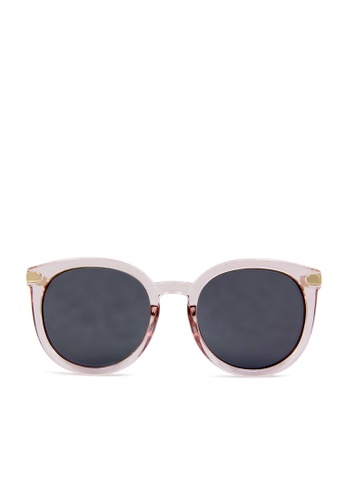 ASLLY pink and multi and gold Romance in the afternoon│Black Cat-Eye Sunglasses with grey mirror coating CE331GL6CA225BGS_1