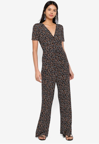 3539930faa3f Buy Miss Selfridge Floral Print Jersey Jumpsuit Online on ZALORA ...
